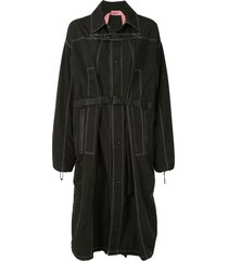 nº21 seat-belt buckle coat - black
