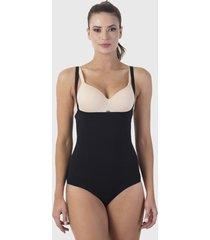 pack 2 bodys lady genny sin busto negro/ nude - calce ajustado