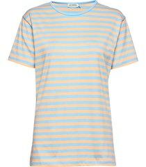 lyhythiha shirt t-shirts & tops short-sleeved blauw marimekko