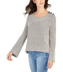 roxy juniors' free thinking bell-sleeve top