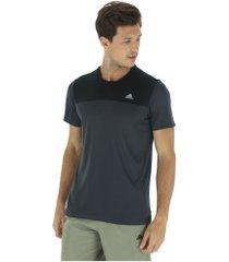 camiseta adidas train breath - masculina - cinza escuro/preto