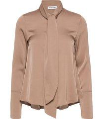 miki blouse blus långärmad brun ahlvar gallery