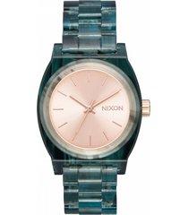 reloj medium time teller acetato nixon