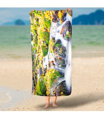unique-maple-leaf-waterfall-scenery-3d-printed-large-microfiber-beach-towels-cir