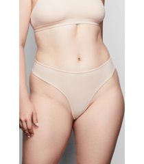 women's skims fits everybody thong, size large - beige