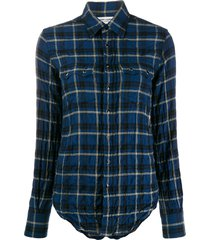 saint laurent texas classic shirt - blue