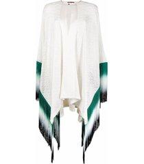 missoni mare zigzag-knit frayed tunic - white