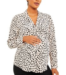 a pea in the pod printed nursing top