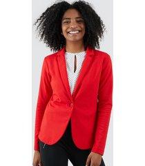 blazer unicolor mujer color rojo, talla xs