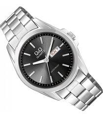 reloj para caballero q&q  a190-202y plateado
