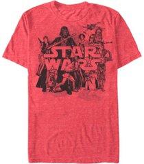 fifth sun men's star wars character collage short sleeve t-shirt
