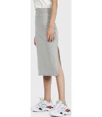 falda hering larga gris - calce regular