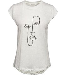 lea t-shirts & tops short-sleeved vit rabens sal r