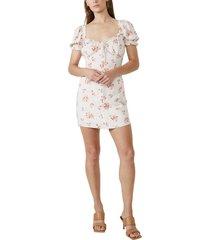 women's bardot lucinta floral dress, size x-small - beige
