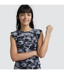 camiseta camuflada mujer