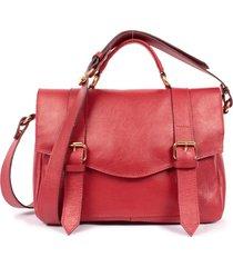 bolsa yasrro em couro sarah vermelho
