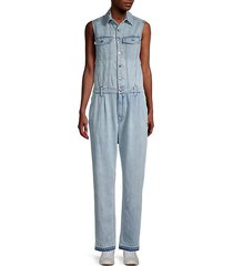 fact cars denim jumpsuit