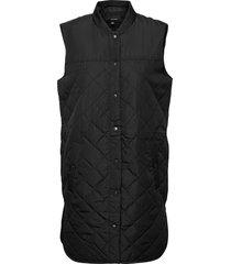 vmsim quilt 3-4 waistcoat ga boos vests padded vests svart vero moda