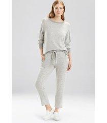 bella pants pajamas, women's, grey, size xl, josie