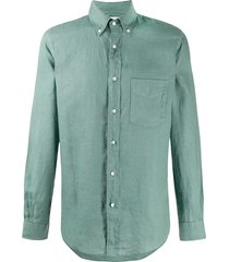aspesi long-sleeve fitted shirt - green