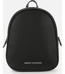 armani exchange women's mini backpack - black