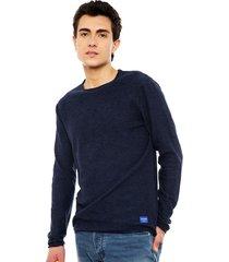 chaleco jack & jones jor frame azul - calce regular