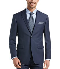 perry ellis premium navy slim fit suit