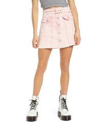women's blanknyc belted denim a-line miniskirt