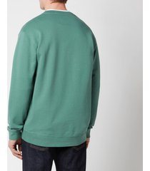 edwin men's base crewneck sweatshirt - blue spruce - xl