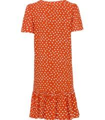 gedessineerde jurk met knoopsluiting