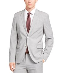 hugo men's extra-slim-fit sharkskin wool suit jacket separate