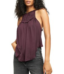 women's free people my oh my tank, size large - purple