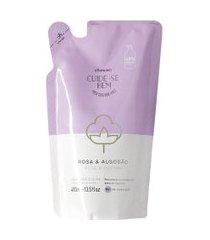 refil cuide-se bem loção hidratante desodorante corporal rosa e algodão 400ml