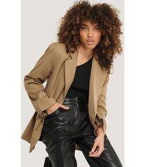 na-kd classic overlap blazer - brown