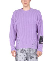 msgm destroyed sweater