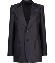 maison margiela structured patch pocket blazer