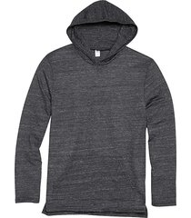 alternative apparel men's charcoal eco jersey hoodie pullover charcoal - size: xxl