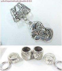us seller snake and skull head pendant scarf ring set pendants for scarves