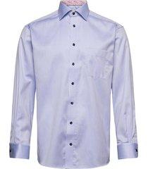 classic fit blue signature twill shirt skjorta business blå eton