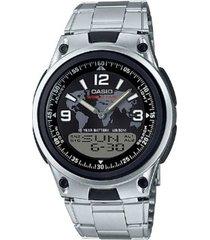 reloj casio aw_80d_1a2v plateado acero inoxidable
