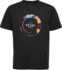 filter tee ss tee t-shirts short-sleeved svart rip curl