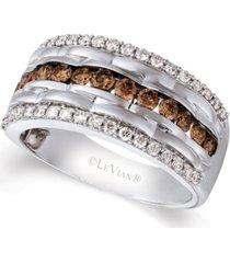 le vian chocolatier men's diamond multi-row ring (1-1/3 ct. t.w.) in 14k white gold