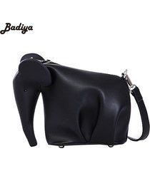 cute cartoon elephant shaped bagleather shoulder bag casual clutchmessenger bag