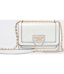 river island womens white patent embossed satchel bag