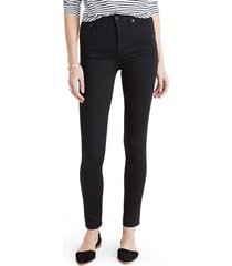 plus size women's madewell 10-inch high rise skinny jeans, size 37 - black