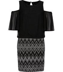 abito con cut-out (nero) - bodyflirt boutique