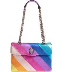 kurt geiger london rainbow shop kensington leather crossbody bag - pink