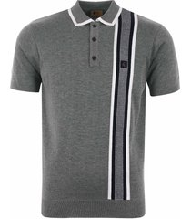 gabicci vintage burbage polo shirt - grey v42gm04