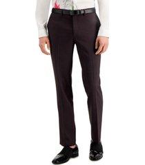 inc men's slim-fit purple plaid suit pants, created for macy's
