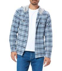 men's paige gavin plaid hooded flannel shirt jacket